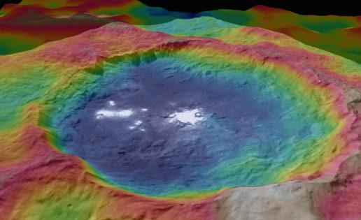 Crece el misterio de las manchas blancas de Ceres