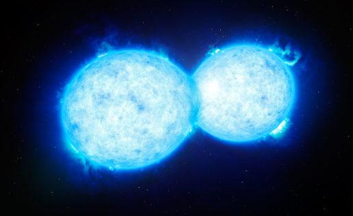 Observan, por primera vez, un «beso mortal» entre dos estrellas
