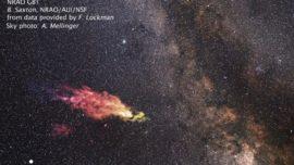 Un monstruoso «bumerang» de gas se precipita contra nuestra galaxia
