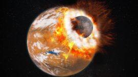 El colosal impacto que formó las lunas de Marte