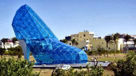 Taiwán construye un edificio con forma de zapato de tacón