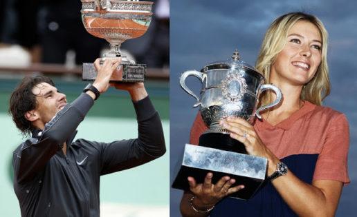 Rafa Nadal y Maria Sharapova, campeones de Roland Garros 2014