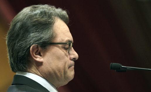 Artur Mas, la primera en la frente