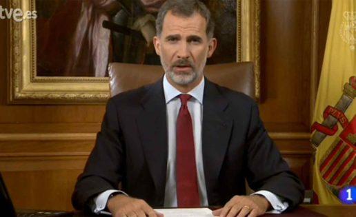 Felipe VI enseña el camino del 155 para Cataluña