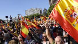 Casado, Rivera y Abascal, imagen inédita de unidad en Madrid