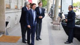 Y Rajoy se fue hoy a comer a Horcher, tras el derrumbe del PP