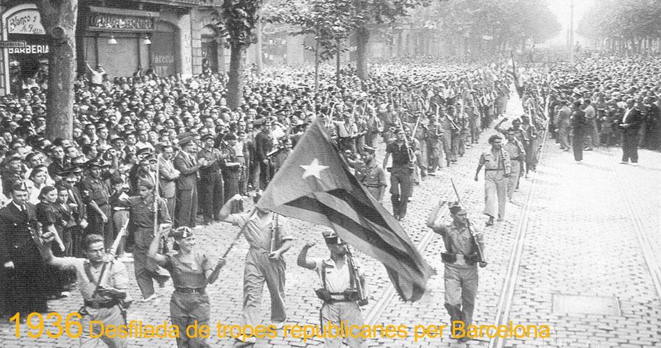Desfile en Barcelona. 1936