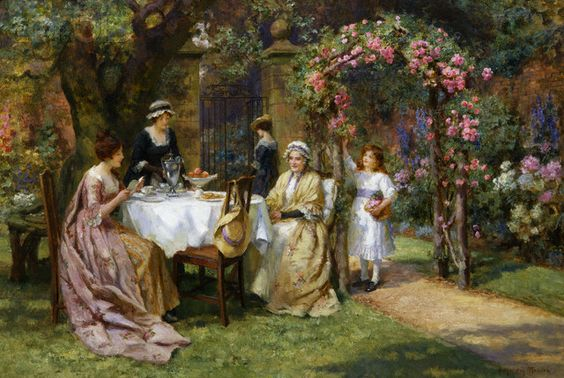 The tea party. George Sheridan Knowles 1890