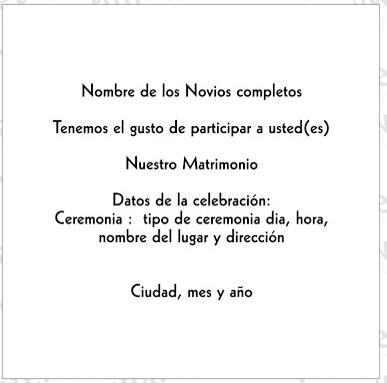Participaciones E Invitaciones Protocolo Y Etiqueta