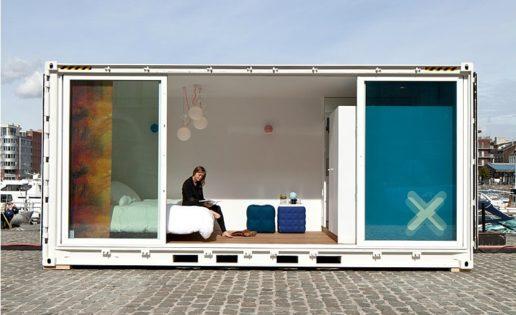 Hotel de lujo en un contenedor: la era del reciclaje