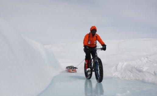 Un español intentará conquistar el Polo Sur en bicicleta