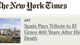 Nueva York visita al Greco
