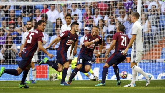 El Eibar empató 1-1 el año pasado en el Bernabéu