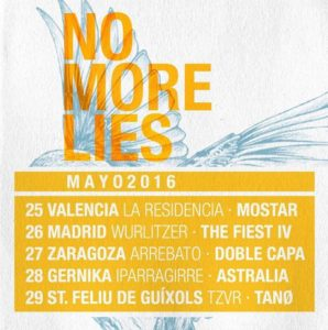 Fechas de la gira de No More Lies