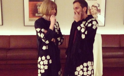 Anna Wintour y Marc Jacobs coinciden con el mismo abrigo