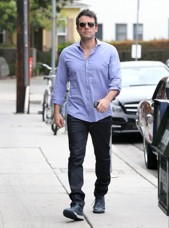 Exclusive... Ben Affleck Heads To A Meeting