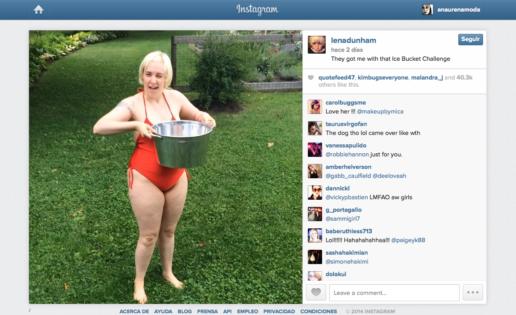 Lena Dunham se tapa para el «Ice Bucket Challenge»