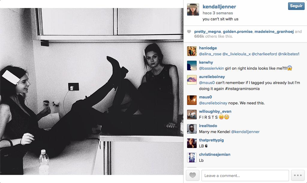 La hermana de kim kardashian es una intrusa lxico fashionista kendall jenner instagram thecheapjerseys Images