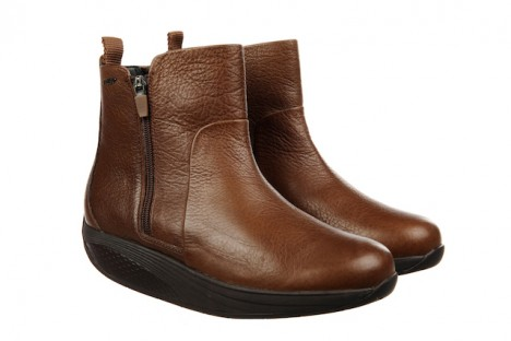 MADINI ZIP BOOT-COCO BROWN