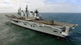 Un portaaviones que se desplegó en las Malvinas