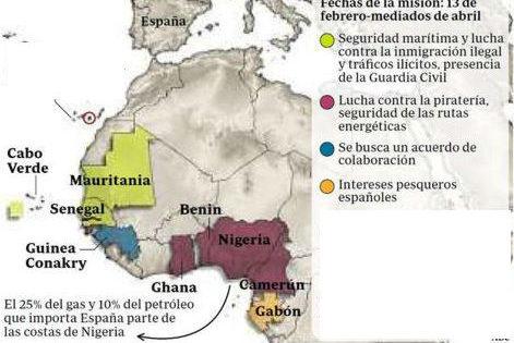 """Morenés: """"Hay necesidad de abordar la seguridad del Golfo de Guinea"""""""