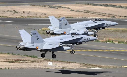 Los cazas F-18 del Ejército «invaden» por primera vez Marruecos (un ejercicio)