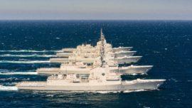 Las cinco fragatas F-100, juntas en la mar por primera vez