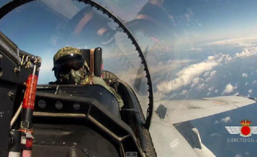 Los cazas del Ejército, listos para el combate en Canarias