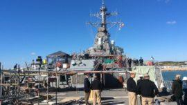 El destructor estadounidense Ross del «escudo antimisiles»: 100 días de parada en Rota