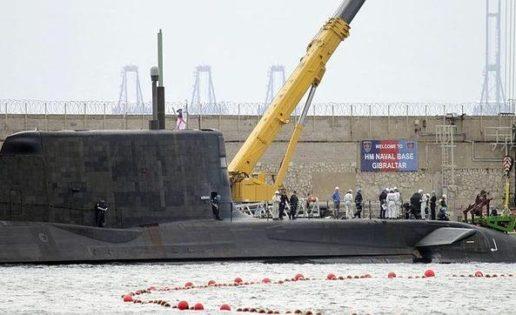 "El submarino británico ""Ambush"" moverá ""material peligroso"" en Gibraltar"