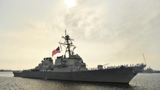 EE.UU. concluirá el despliegue de destructores en Rota el día 25