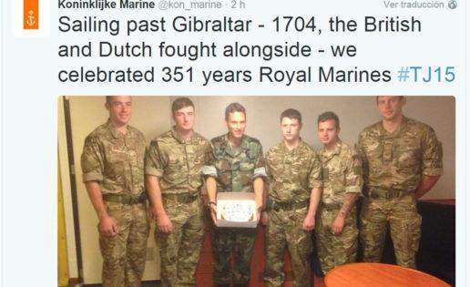 Holandeses y británicos se regodean de la toma de Gibraltar en un ejercicio de la OTAN