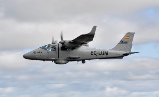 El avión de Indra que ya vigila el mar Mediterráneo para Frontex