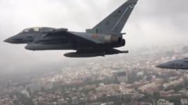 Vídeo desde un caza Eurofighter en el desfile del 12 de Octubre