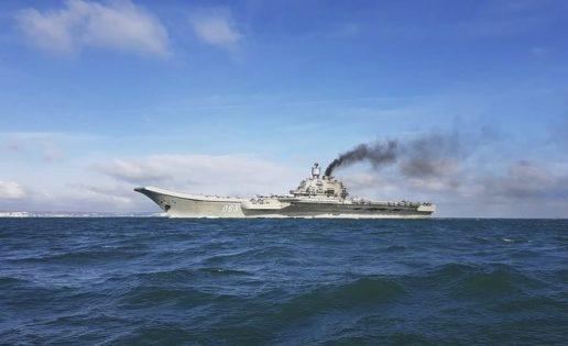 La Armada vigila el paso del Estrecho del portaaviones ruso Almirante Kuznetsov
