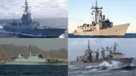 Intensa actividad Armada-OTAN: despliegue de cuatro buques en tres agrupaciones