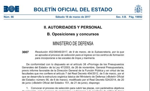 Oferta de empleo público: Defensa convoca 2.000 plazas para Tropa y Marinería