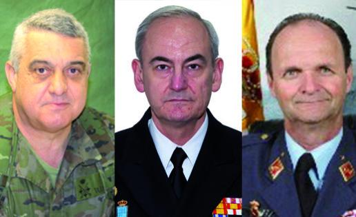 El general Varela, el almirante López Calderón y el general Salto, nuevos jefes de Tierra, Armada y Aire