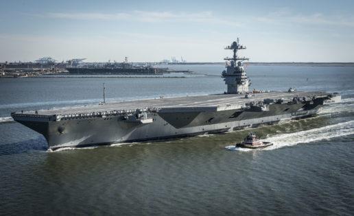 EE.UU. inicia las pruebas de mar del «Gerald R. Ford»: el mayor portaaviones de la historia