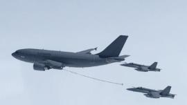 Los cinco cazas españoles F-18 ya se encuentran en Estonia con la OTAN