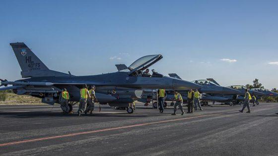 8 cazas F-16 y 200 militares de EE.UU., de maniobras en Albacete hasta el 19 de mayo