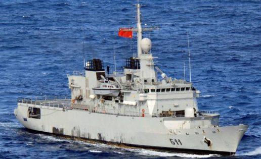 La fragata marroquí «Mohamed V», de maniobras con la Armada Española en Cádiz