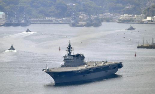 Sube la tensión en Corea: Japón despliega por primera vez su mayor buque de guerra