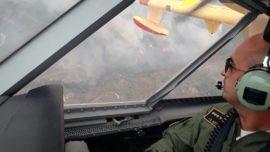 España envía cuatro aviones apagafuegos del Ejército del Aire al incendio de Portugal