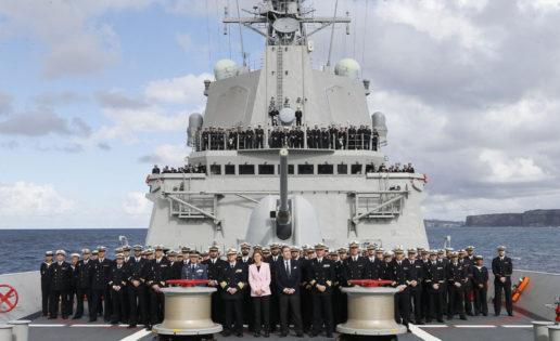 Cospedal, en Australia para impulsar el contrato de las nueve fragatas de Navantia