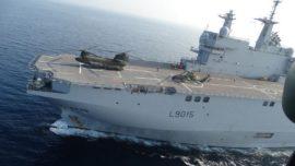España y Francia, de maniobras aeronavales de Toulon hasta Barcelona