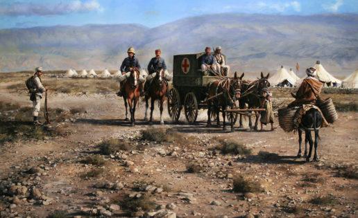 """""""Rif 1909"""": el cuadro de Ferrer-Dalmau que rinde homenaje a la Sanidad Militar"""
