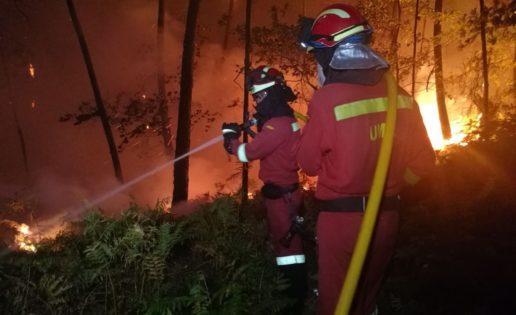 La UME se moviliza ante los incendios en Galicia, Asturias y La Rioja