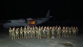 Cospedal visita a las tropas del Ejército del Aire desplegadas en Gabón