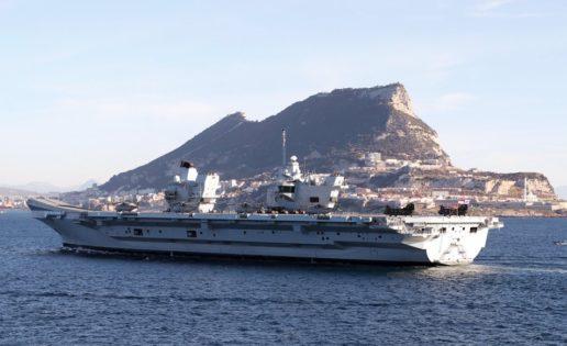 Gibraltar, primera salida del portaaviones británico Queen Elizabeth